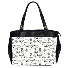 Skeleton Pattern Office Handbags (2 Sides)  by Valentinaart