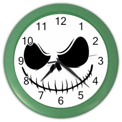 Halloween Color Wall Clocks by Valentinaart