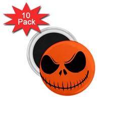 Halloween 1 75  Magnets (10 Pack)  by Valentinaart