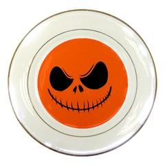 Halloween Porcelain Plates by Valentinaart