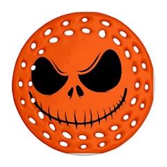 Halloween Ornament (round Filigree) by Valentinaart