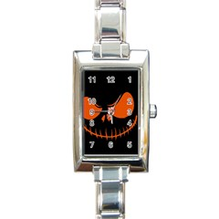 Halloween Rectangle Italian Charm Watch by Valentinaart