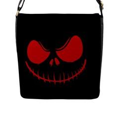 Halloween Flap Messenger Bag (l)  by Valentinaart