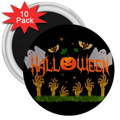 Halloween 3  Magnets (10 Pack)  by Valentinaart