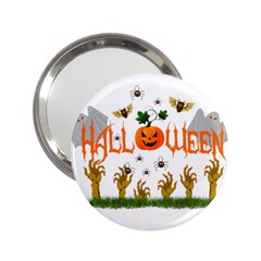 Halloween 2 25  Handbag Mirrors by Valentinaart