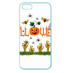 Halloween Apple Seamless Iphone 5 Case (color) by Valentinaart
