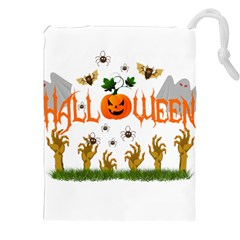 Halloween Drawstring Pouches (xxl) by Valentinaart