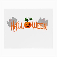 Halloween Small Glasses Cloth by Valentinaart