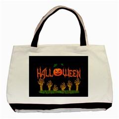 Halloween Basic Tote Bag by Valentinaart
