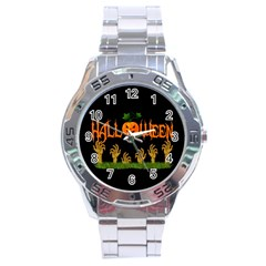 Halloween Stainless Steel Analogue Watch by Valentinaart