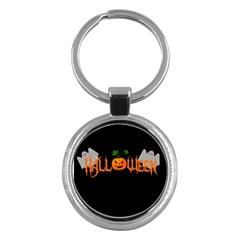 Halloween Key Chains (round)  by Valentinaart