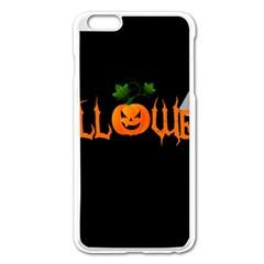 Halloween Apple Iphone 6 Plus/6s Plus Enamel White Case by Valentinaart