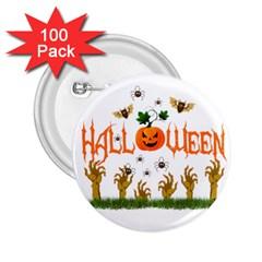 Halloween 2 25  Buttons (100 Pack)  by Valentinaart