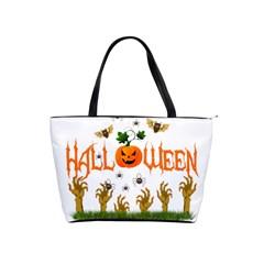 Halloween Shoulder Handbags by Valentinaart