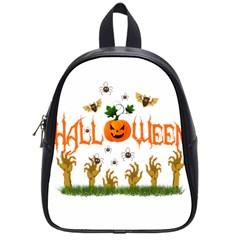 Halloween School Bag (small) by Valentinaart