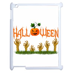 Halloween Apple Ipad 2 Case (white) by Valentinaart