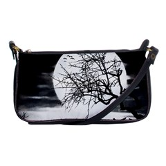 Halloween Landscape Shoulder Clutch Bags by Valentinaart