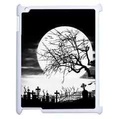 Halloween Landscape Apple Ipad 2 Case (white) by Valentinaart