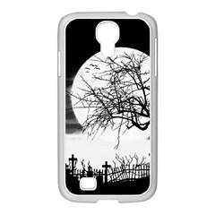 Halloween Landscape Samsung Galaxy S4 I9500/ I9505 Case (white) by Valentinaart