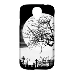 Halloween Landscape Samsung Galaxy S4 Classic Hardshell Case (pc+silicone) by Valentinaart