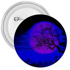 Halloween Landscape 3  Buttons by Valentinaart