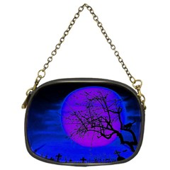 Halloween Landscape Chain Purses (two Sides)  by Valentinaart