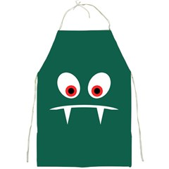 Angry Monster Full Print Aprons by linceazul