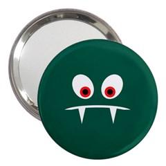 Angry Monster 3  Handbag Mirrors by linceazul