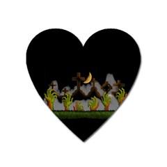 Halloween Zombie Hands Heart Magnet by Valentinaart