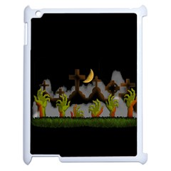 Halloween Zombie Hands Apple Ipad 2 Case (white) by Valentinaart