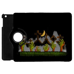 Halloween Zombie Hands Apple Ipad Mini Flip 360 Case by Valentinaart