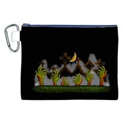Halloween Zombie Hands Canvas Cosmetic Bag (xxl) by Valentinaart