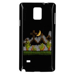 Halloween Zombie Hands Samsung Galaxy Note 4 Case (black) by Valentinaart