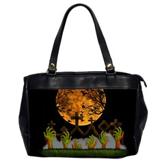 Halloween Zombie Hands Office Handbags (2 Sides)  by Valentinaart