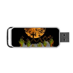 Halloween Zombie Hands Portable Usb Flash (two Sides) by Valentinaart