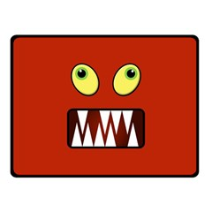Funny Monster Face Fleece Blanket (small) by linceazul