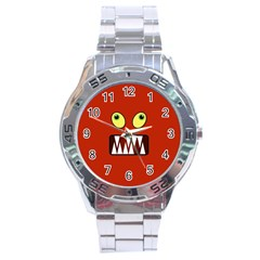 Funny Monster Face Stainless Steel Analogue Watch by linceazul