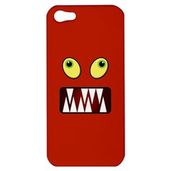 Funny Monster Face Apple Iphone 5 Hardshell Case by linceazul