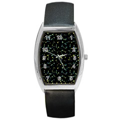 Splatter Abstract Dark Pattern Barrel Style Metal Watch by dflcprints