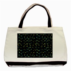 Splatter Abstract Dark Pattern Basic Tote Bag by dflcprints