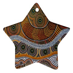 Aboriginal Traditional Pattern Star Ornament (two Sides) by Onesevenart