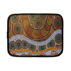 Aboriginal Traditional Pattern Netbook Case (small)  by Onesevenart