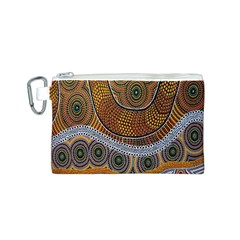 Aboriginal Traditional Pattern Canvas Cosmetic Bag (s) by Onesevenart