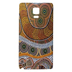 Aboriginal Traditional Pattern Galaxy Note 4 Back Case by Onesevenart