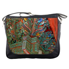 Traditional Korean Painted Paterns Messenger Bags by Onesevenart