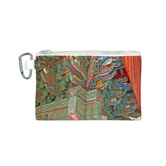 Traditional Korean Painted Paterns Canvas Cosmetic Bag (s) by Onesevenart