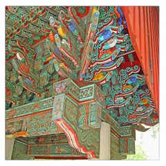 Traditional Korean Painted Paterns Large Satin Scarf (square) by Onesevenart