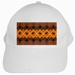 Traditiona  Patterns And African Patterns White Cap by Onesevenart