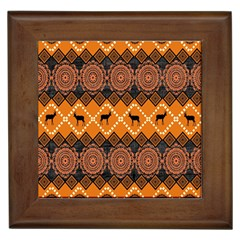 Traditiona  Patterns And African Patterns Framed Tiles by Onesevenart