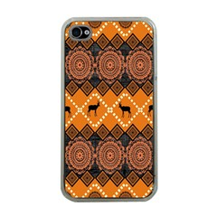 Traditiona  Patterns And African Patterns Apple Iphone 4 Case (clear) by Onesevenart